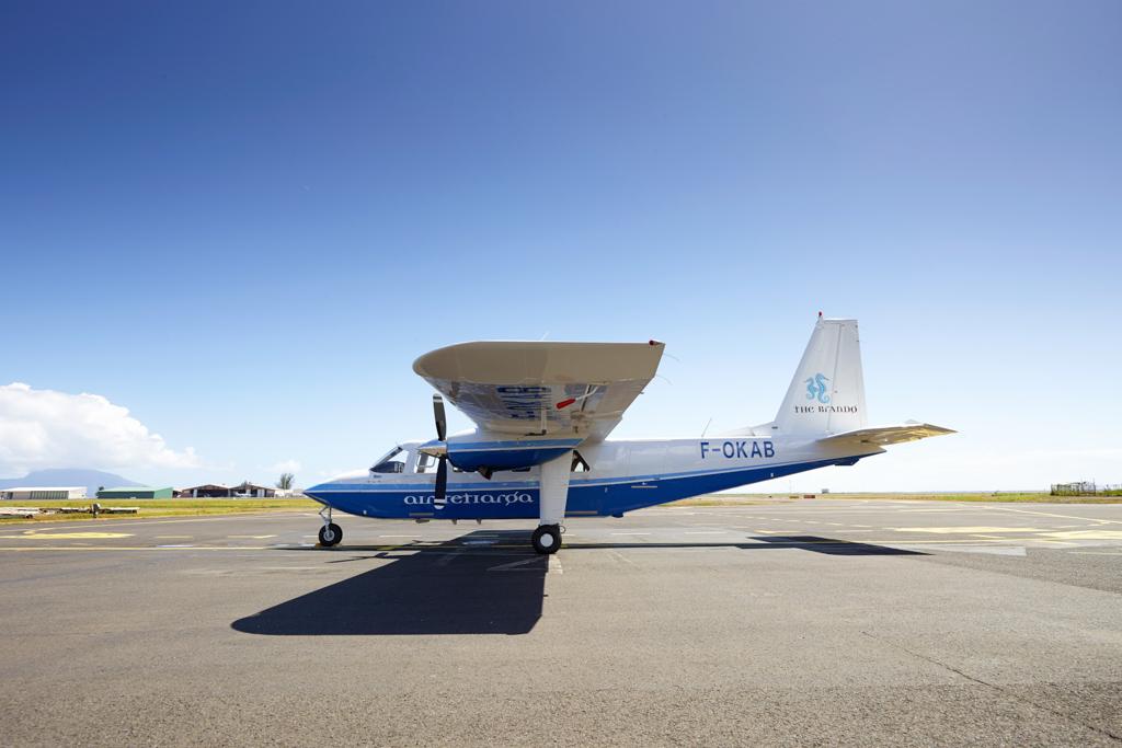 Depuis Tahiti, il est nécessaire de reprendre un vol privé pour atteindre l'atoll privé de Tetiaroa où The Brando s'est installé