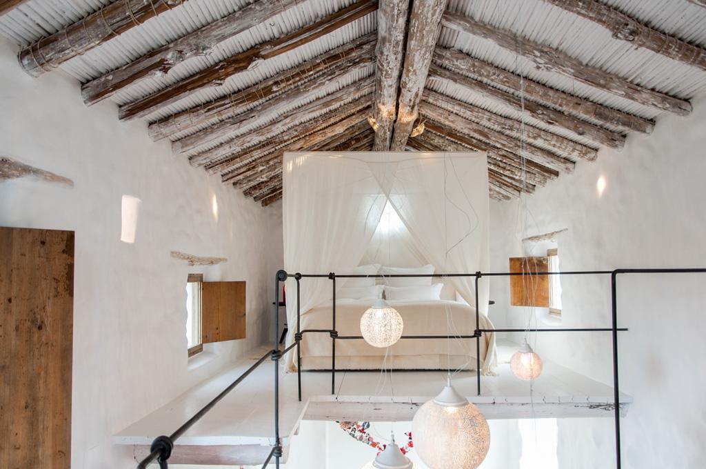 La Cortijo traditionnelle a ici été restaurée en une luxueuse éco-retraite