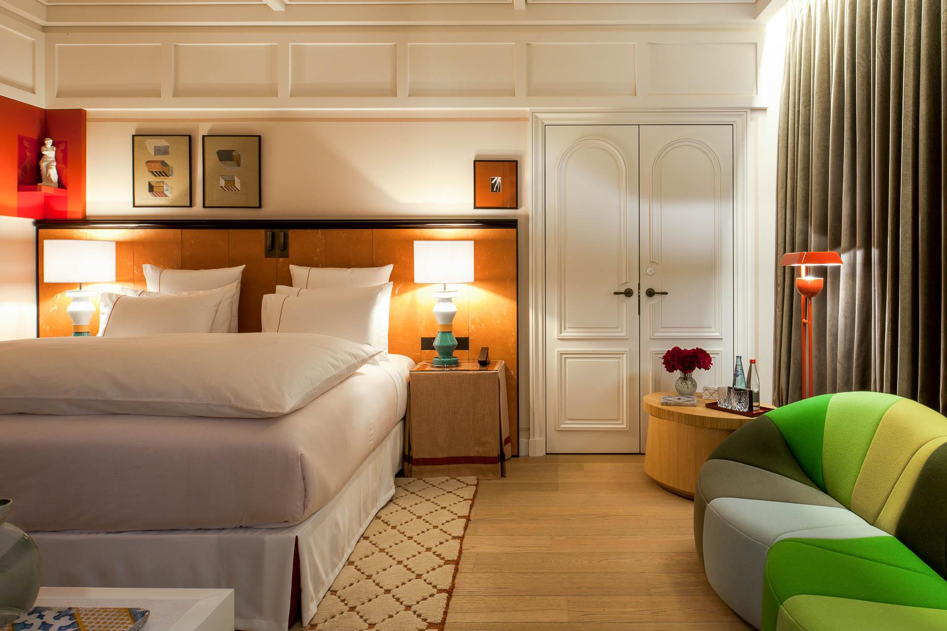 Le décor des 42 chambres reprend les codes esthétiques de l'hôtel, sans oublier quelques surprises...