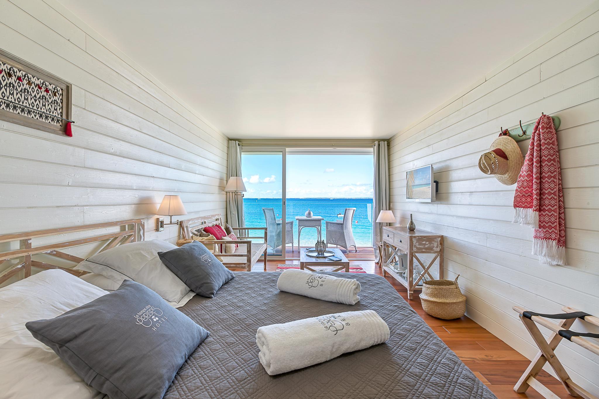 Toutes les chambres sont ouvertes sur la mer...