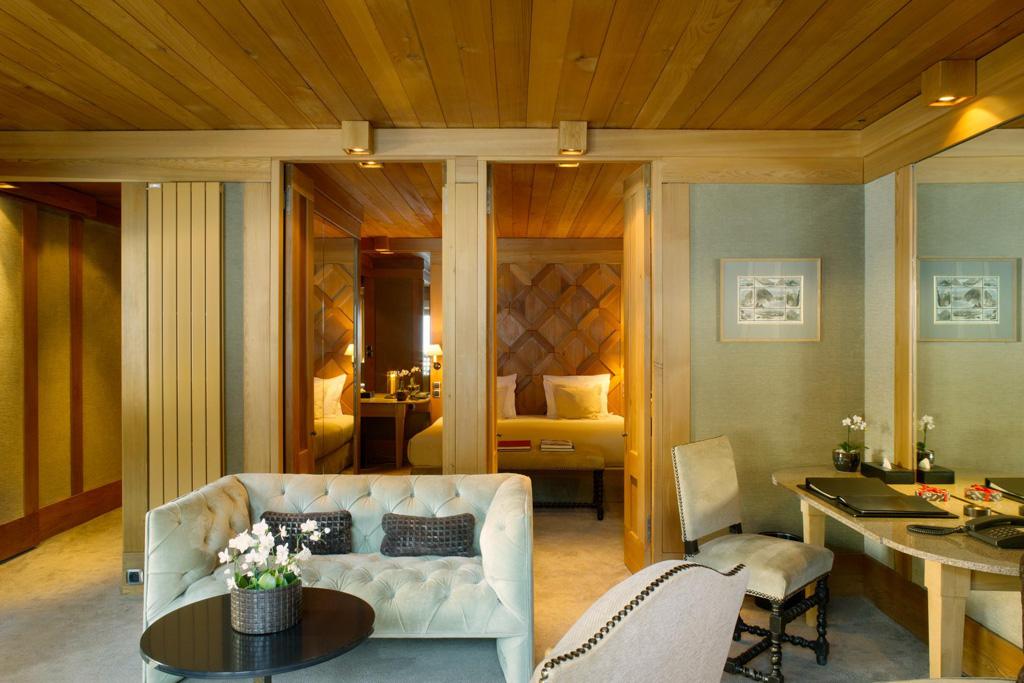 Les suites de l'hôtel dévoilent de très beaux espaces...