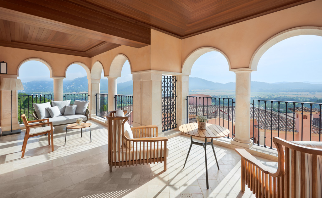 Toutes les chambres et suites disposent de terrasses privatives