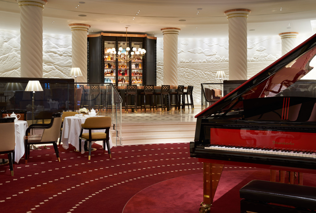 C'est ici, au son du piano, que sera servi le traditionnel afternoon tea britannique