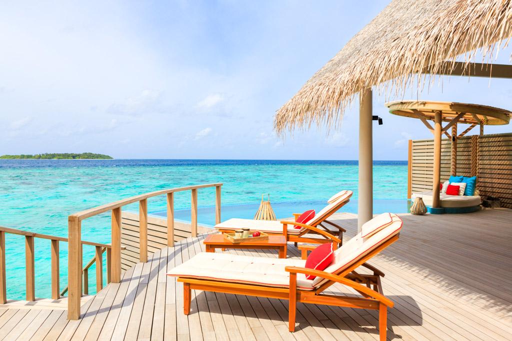 ... et de vastes terrasses, idéale pour se relaxer ou prendre un bain de soleil