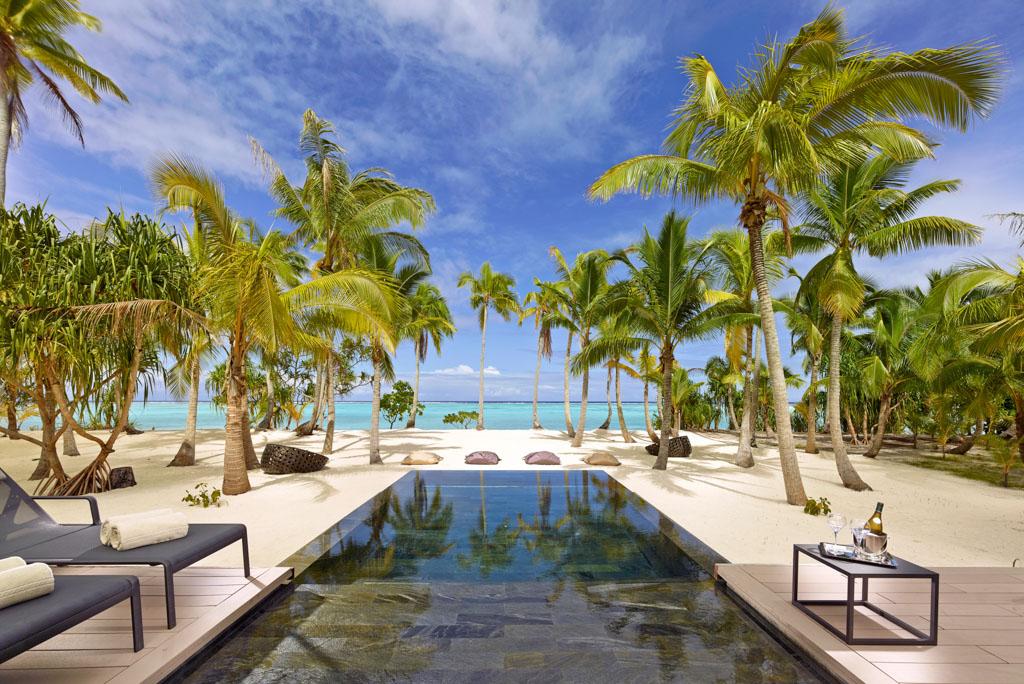 Autre luxe offert aux hôtes de The Brando, la présence de piscines privatives