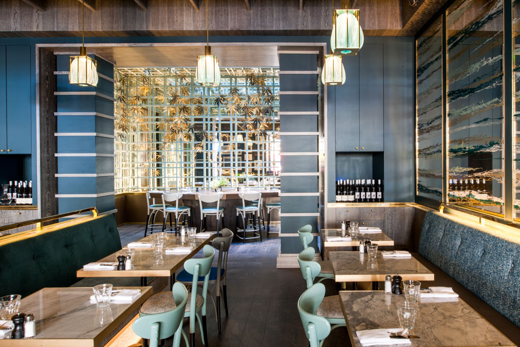 Le Nolinski, c'est aussi une vaste brasserie contemporaine, la Brasserie Réjane