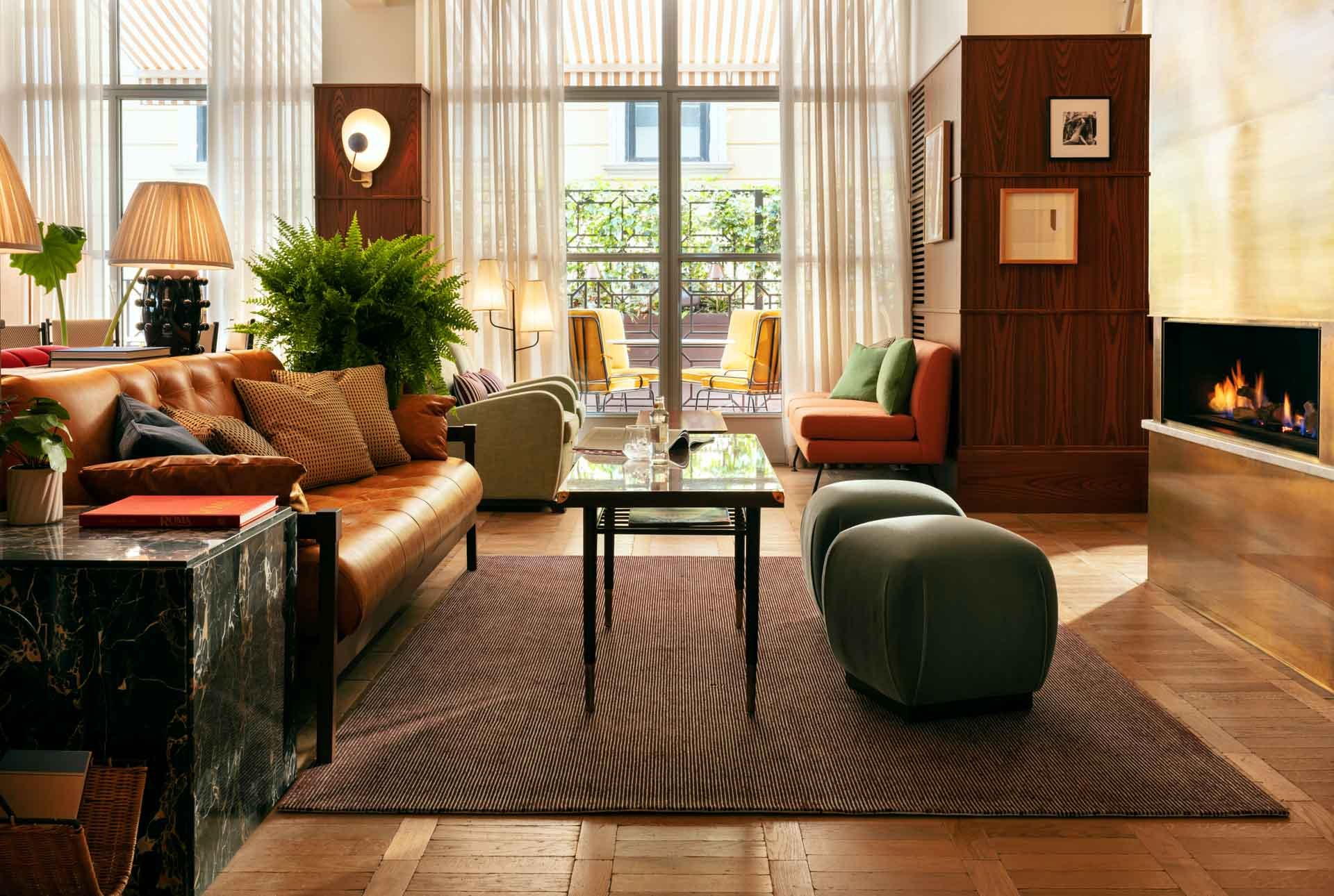 L'esprit branché de Shoreditch se mêle à l'Italie des années 50 dans le lobby