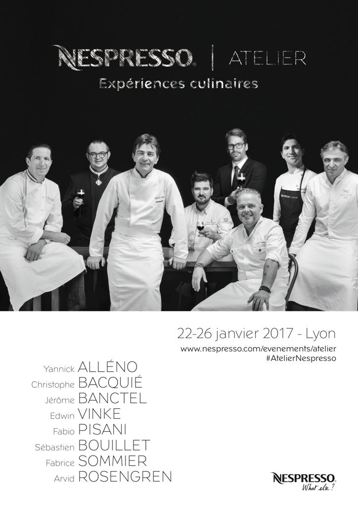 Affiche Atelier Nespresso Lyon 2017