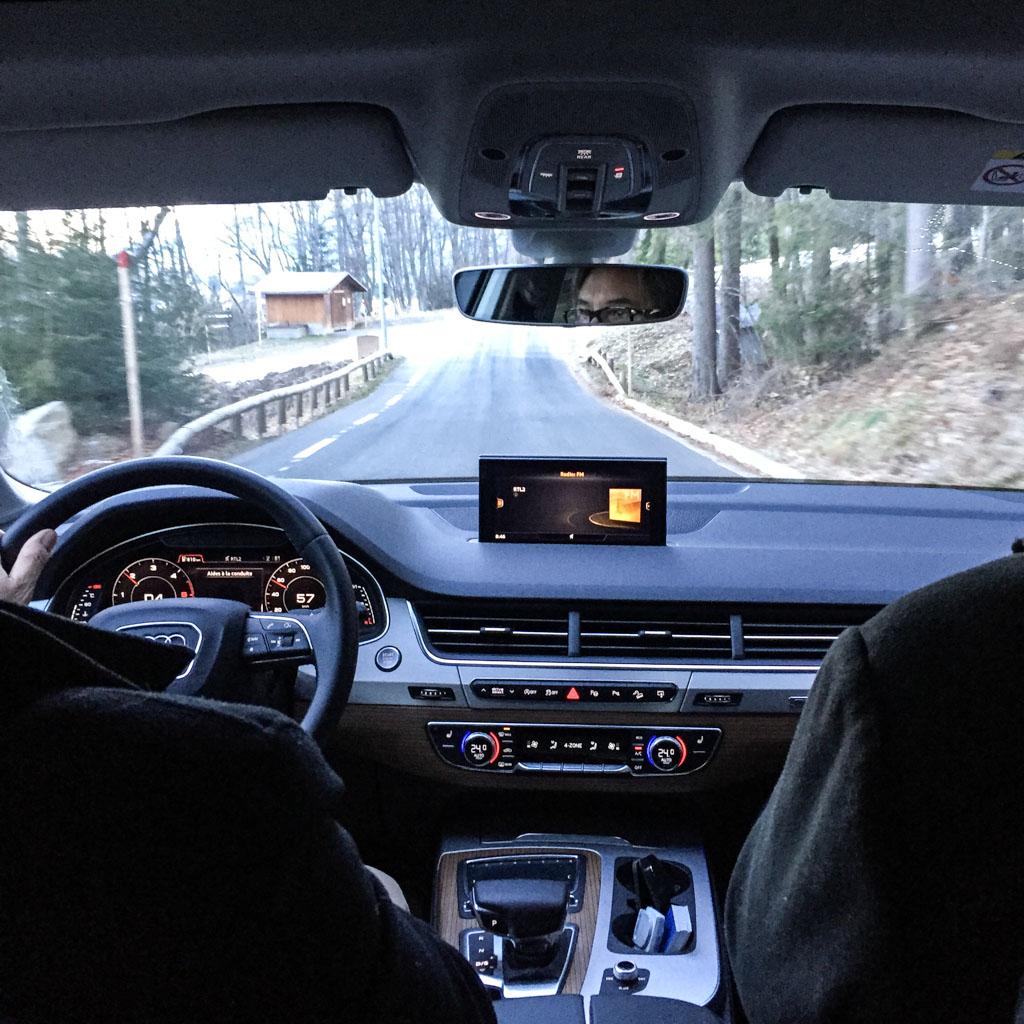 Les transferts sont assurés en Audi Q7 : confort exceptionnel assuré © Yonder.fr