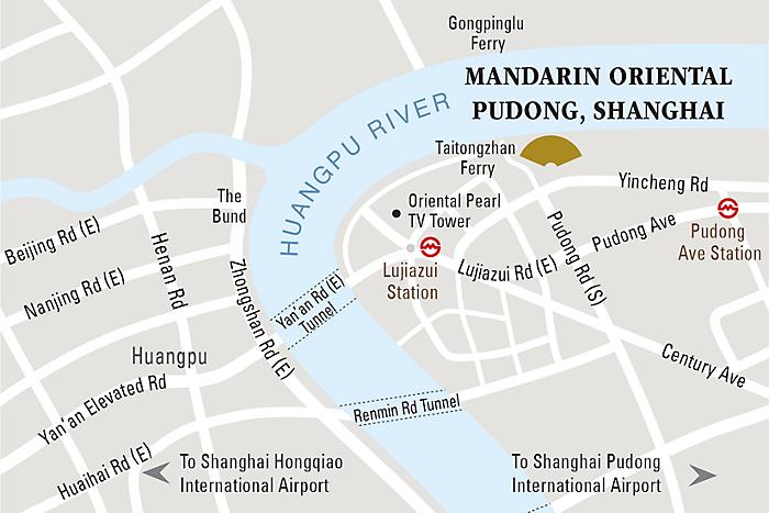 Mandarin Oriental Pudong - Map