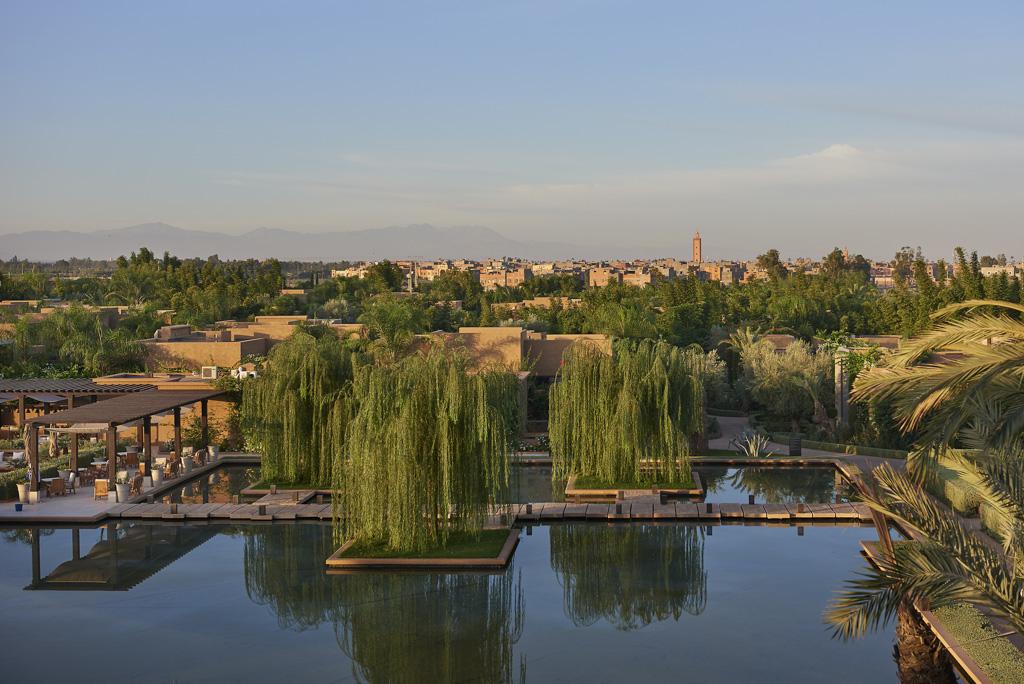 Le Mandarin Oriental Marrakech est au coeur d'un parc de 20 hectares