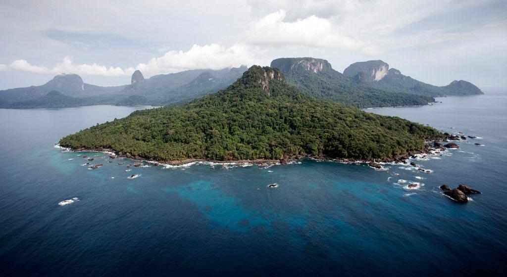 Bom Bom Island Resort - Vue aérienne île Principe