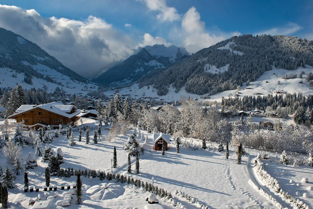 Vue depuis l'hôtel   © The Alpina Gstaad