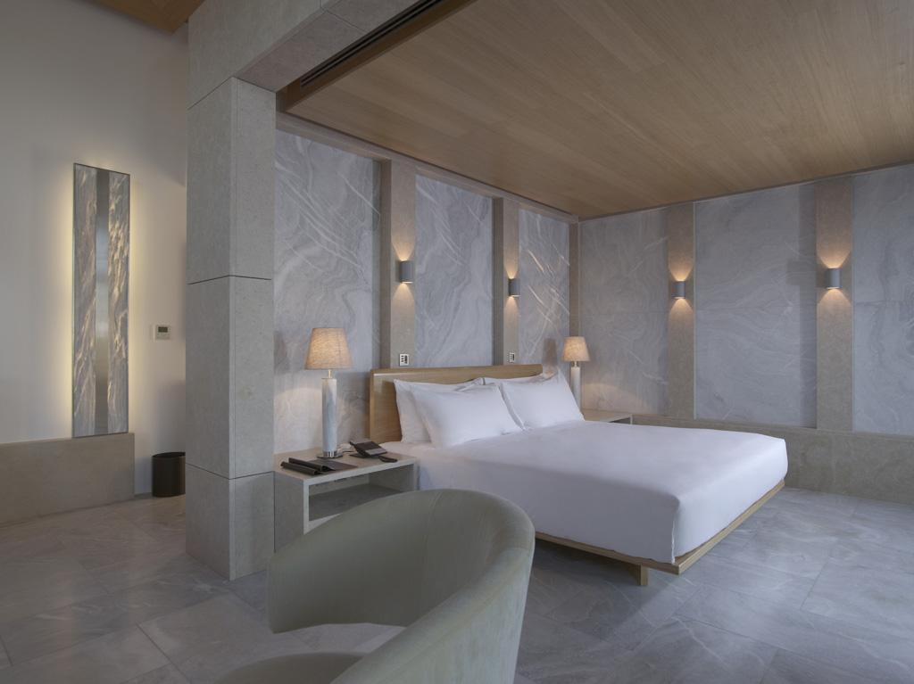 Amanzoe, Grèce - Chambre à coucher dans un pavillon