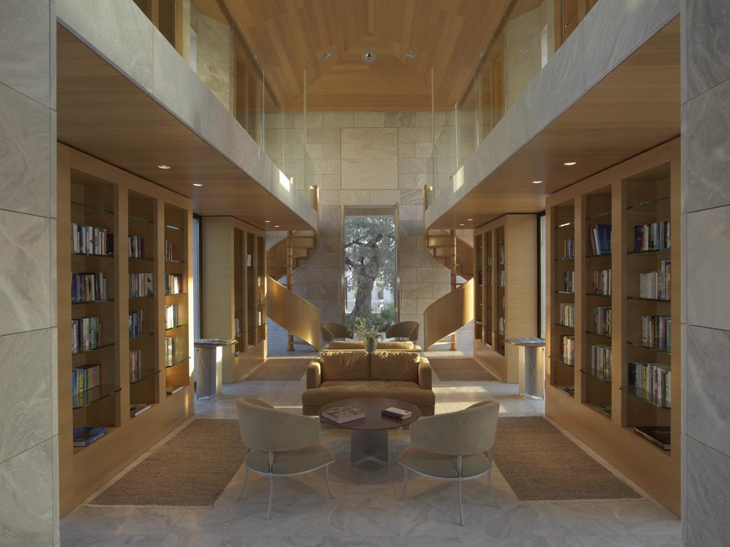 Amanzoe, Grèce - Bibliothèque