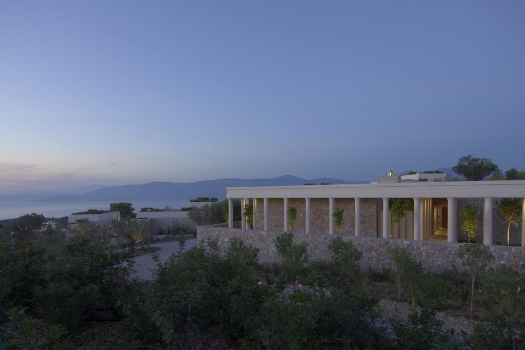 Amanzoe, Grèce - Vue extérieure du spa
