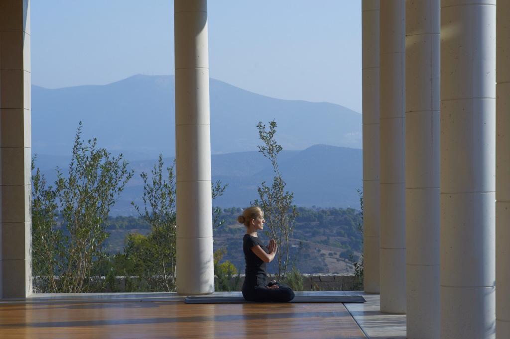 Amanzoe, Grèce - Pavillon pour le yoga