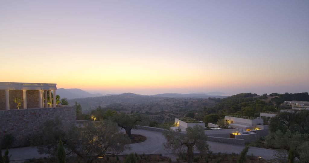 Amanzoe, Grèce - Vue d'ensemble de l'hôtel