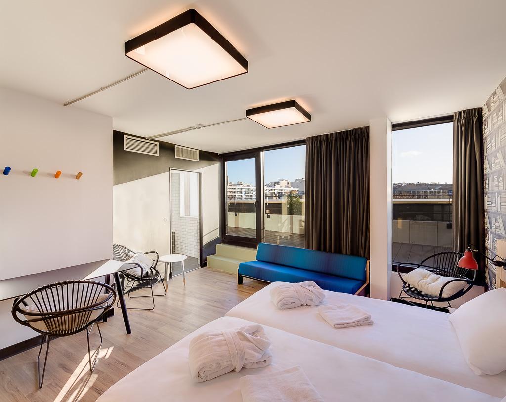 Generator Paris - Chambre premium pour 2 personnes avec terrasse privative