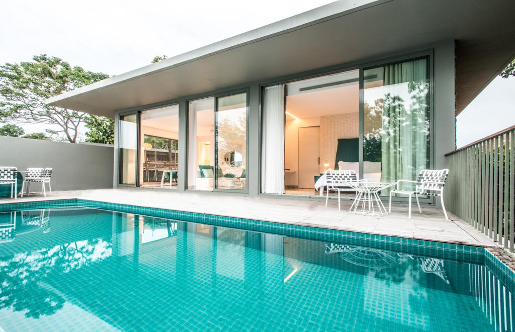 Villas Point Yamu by COMO à Phuket - Piscine privative des villas