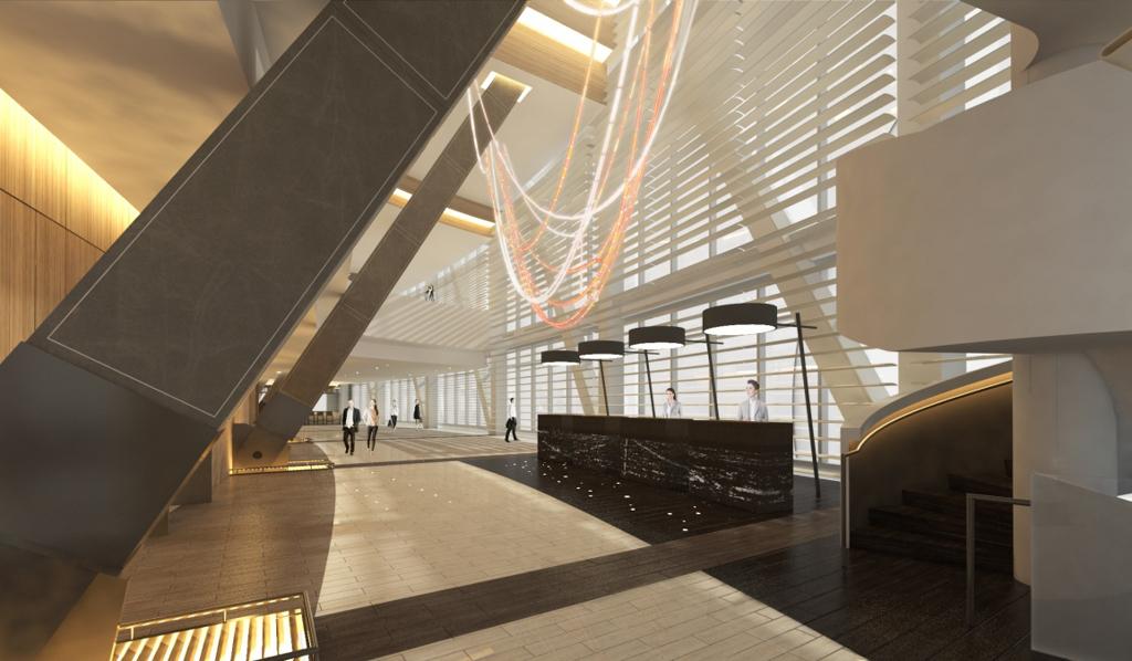 Wilshire Grand - InterContinental - Sky Lobby