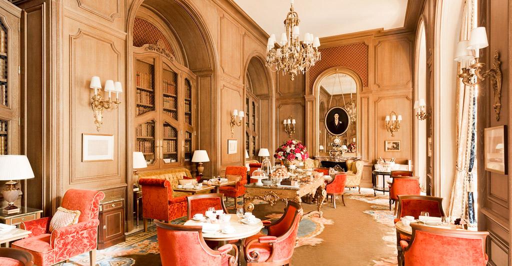 Ritz Paris - Paris 1er - Salon Proust avec cheminée