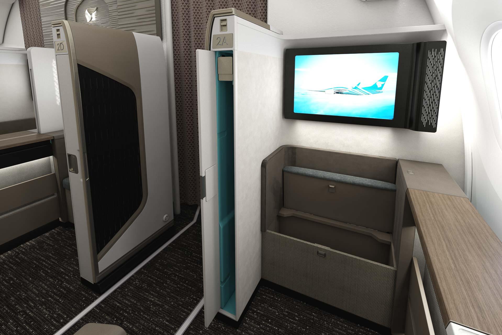 Oman Air - Mini Suite First Class - Siège + IFE