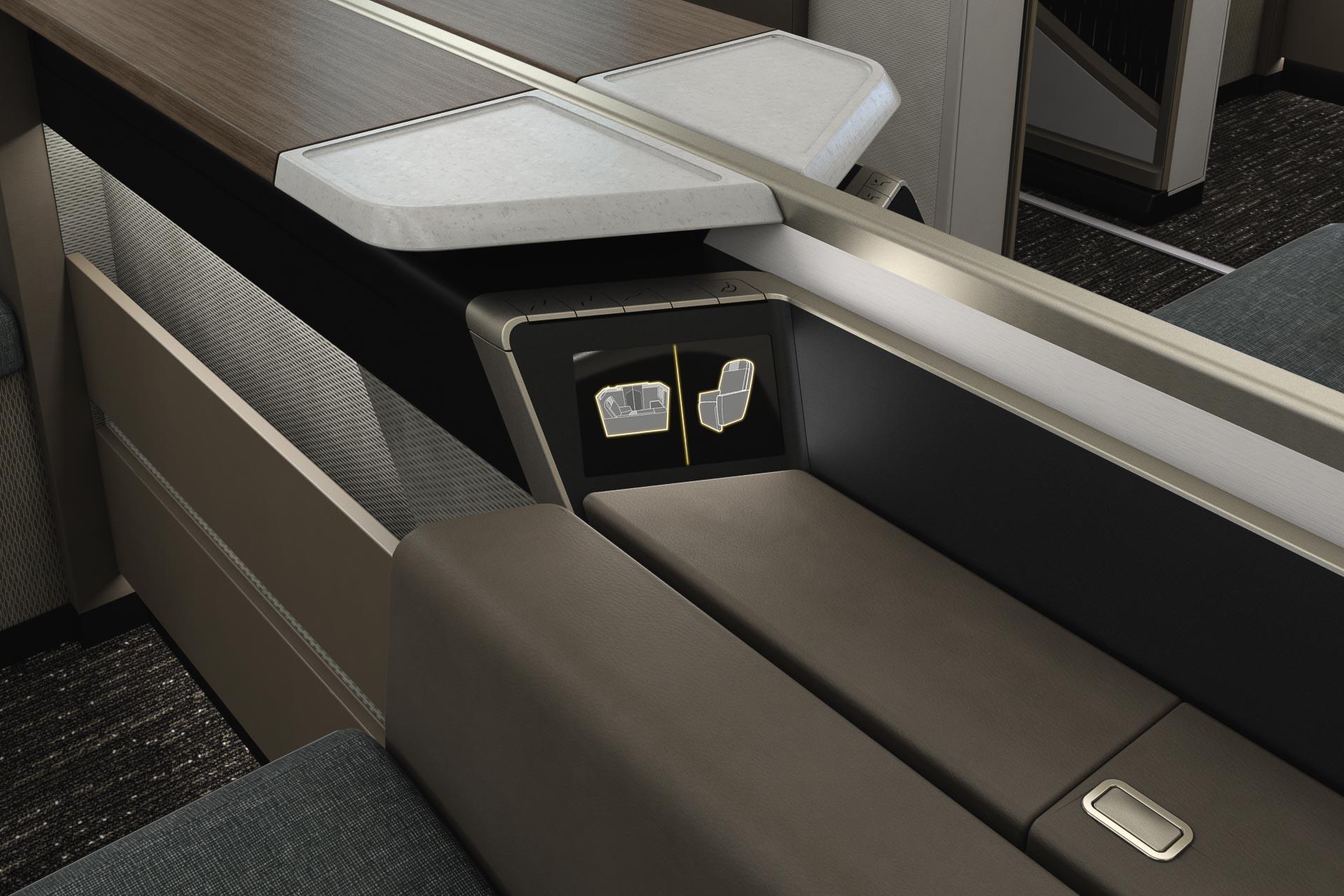 Oman Air - Mini Suite First Class - Commandes électriques