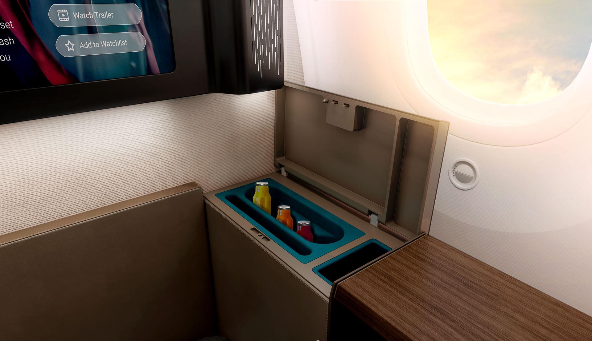 Oman Air - Mini Suite First Class - Minibar