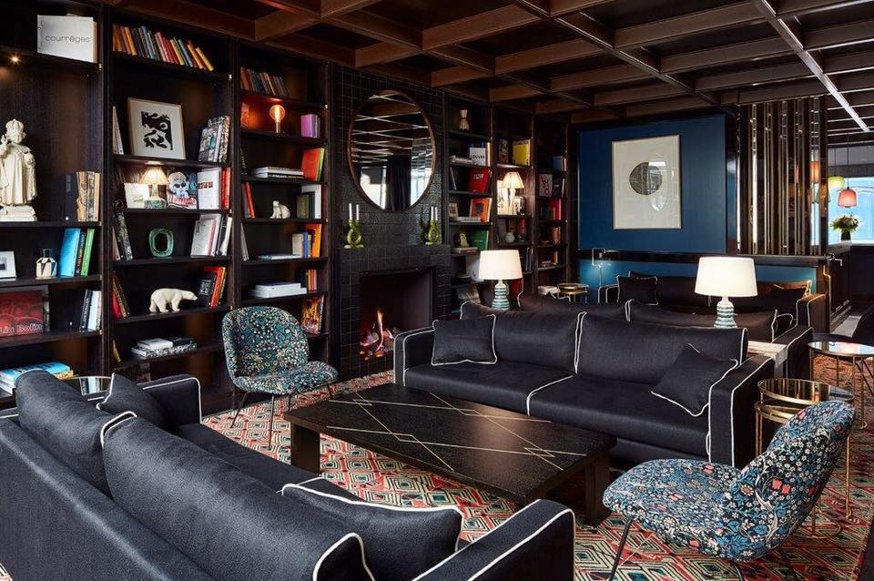 Roch Hôtel & Spa - Paris 1er - Salon avec cheminée