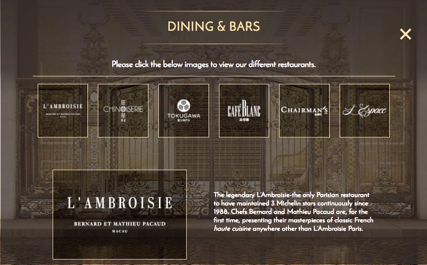 Nouveaux restaurants 2017 - Monde - Ambroisie Macau screenshot