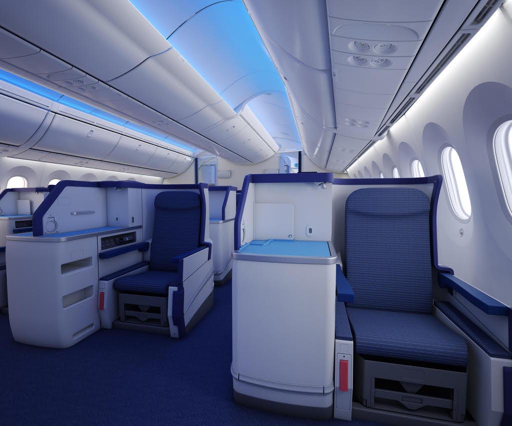 À bord de la Business Class d'All Nippon Airways © DR