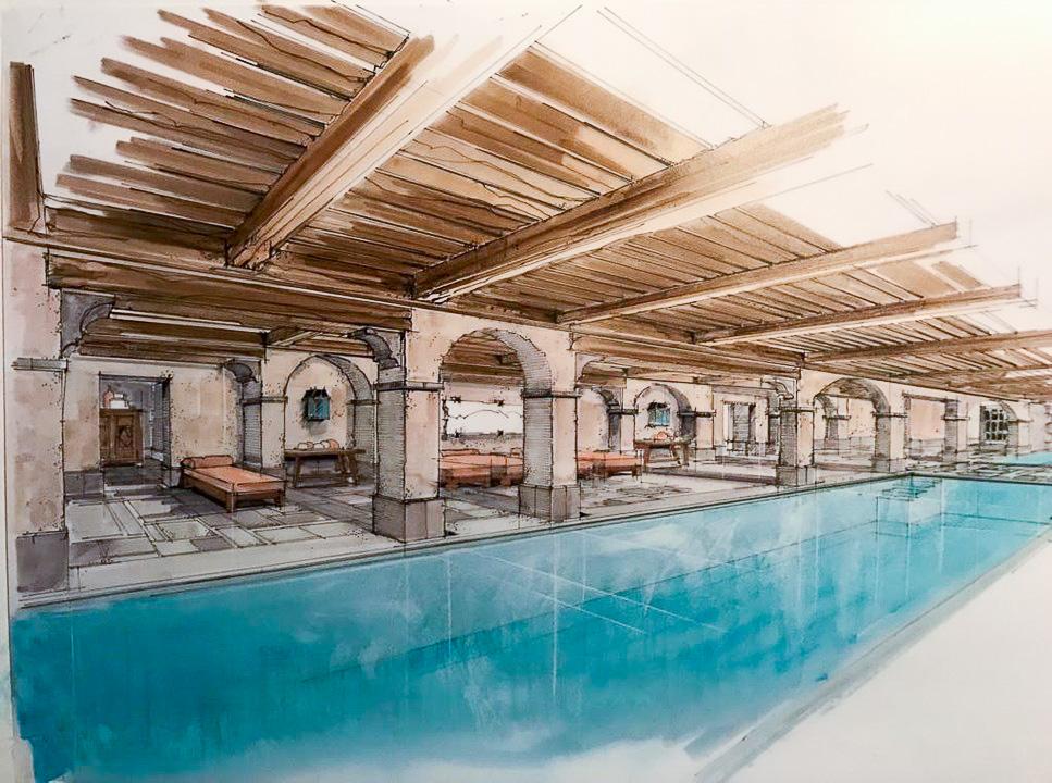 Airelles Val d'Isère - Mademoiselle - Spa Guerlain avec piscine intérieure © DR