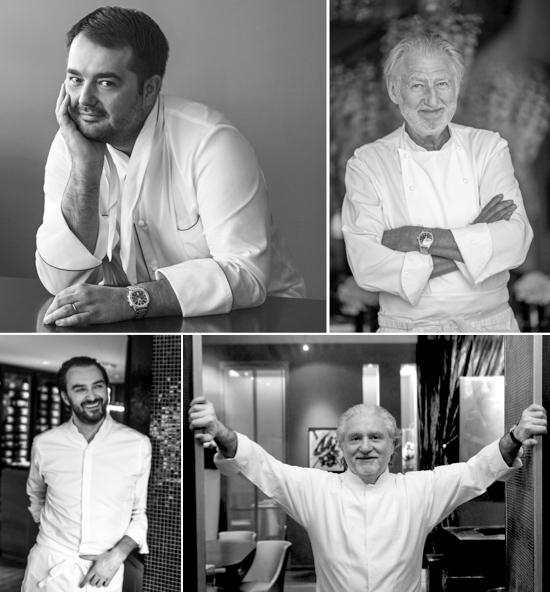 Les chefs invités à La Terrasse Rouge pour la présentation des Primeurs 2016 des Clés de Châteaux
