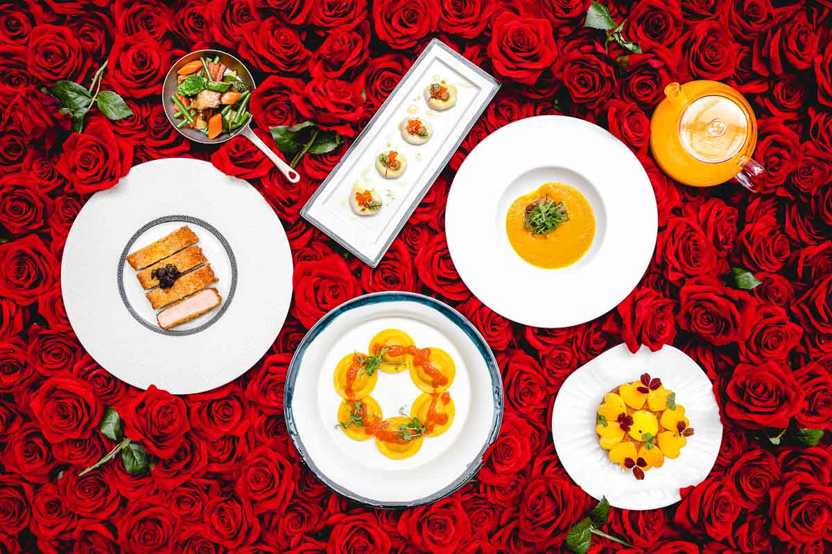 Menu Saint-Valentin 2021 par Simone Zanoni au Four Seasons George V © DR
