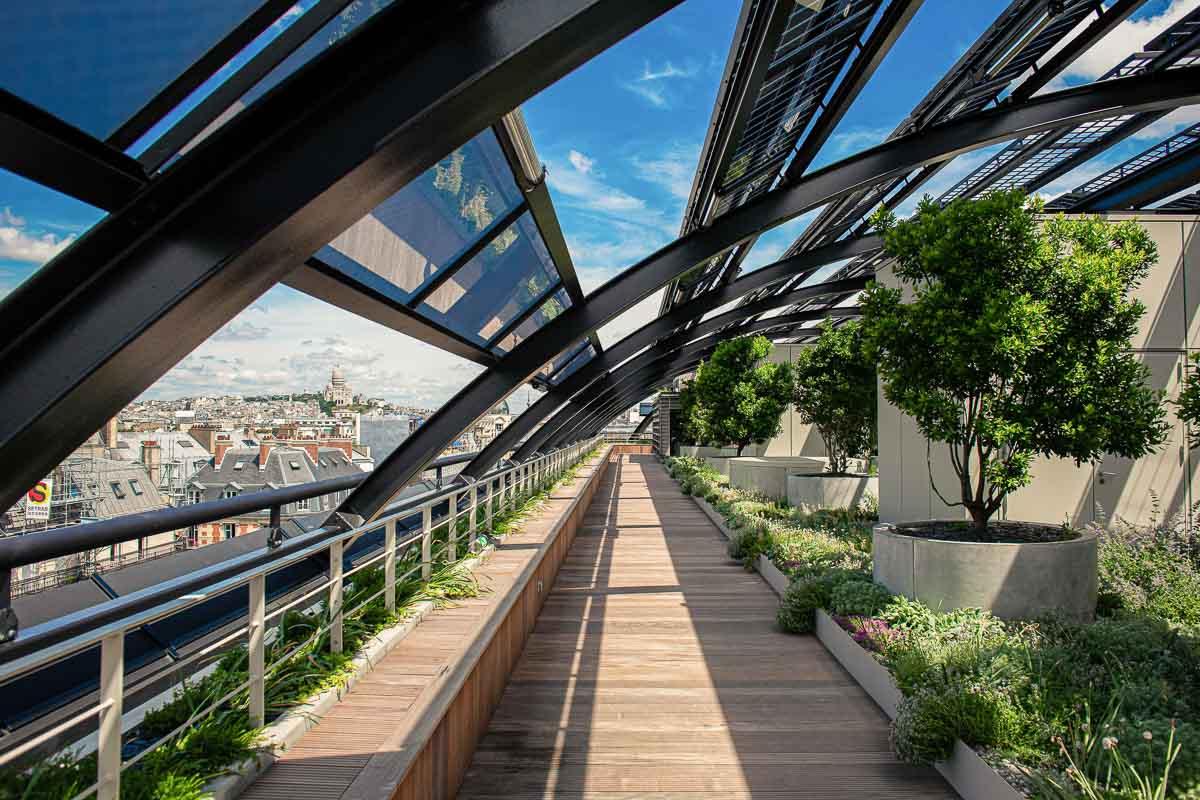 Madame Rêve | Jardin arboré sur le toit de l'hôtel © Madame Rêve