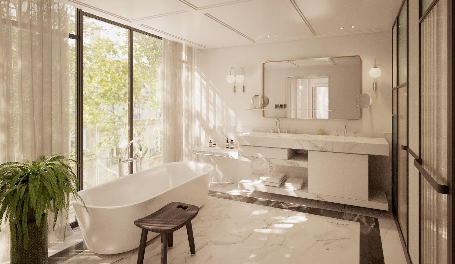 KimptonSt Honoré Paris — salle de bain © DR