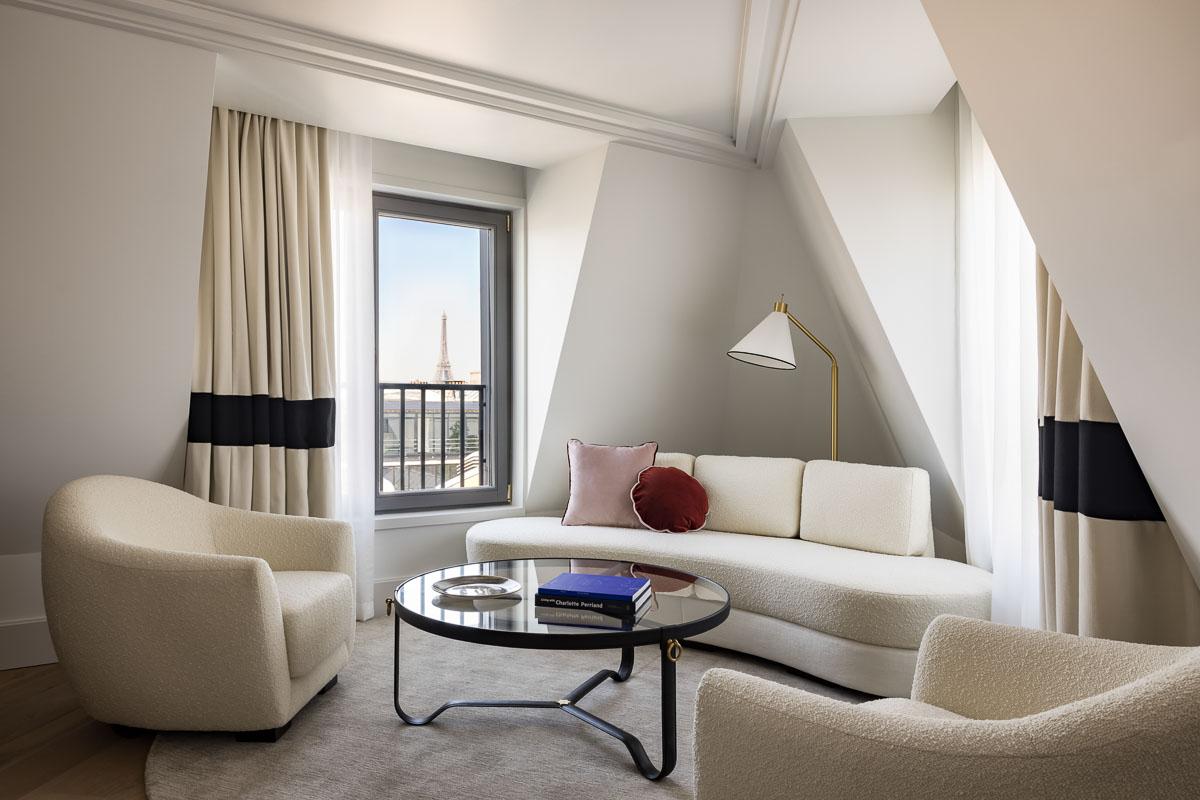 KimptonSt Honoré Paris - Salon de la Suite 914 © Jérôme Galland