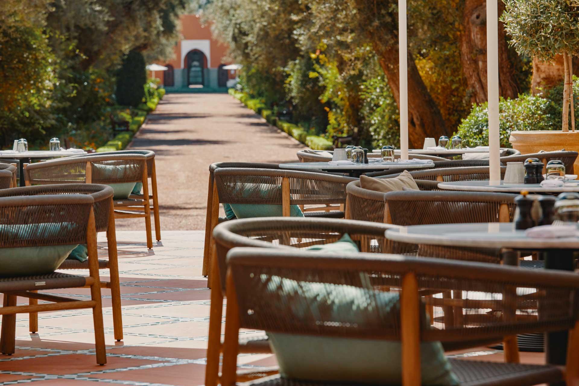 Le Bar Italien dans les jardins de La Mamounia ©DR