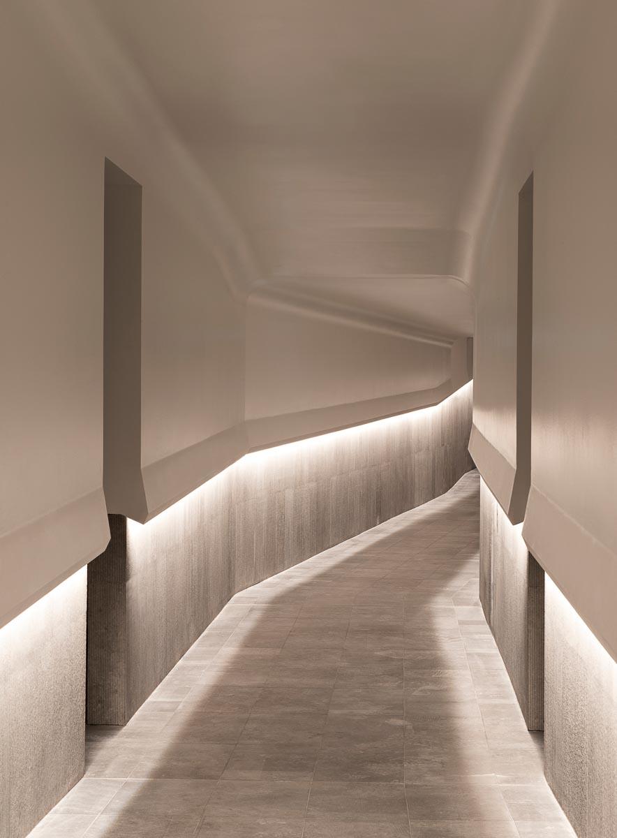 Hôtel Les Haras (Strasbourg) - Spa - Couloir © Nicolas Matheus