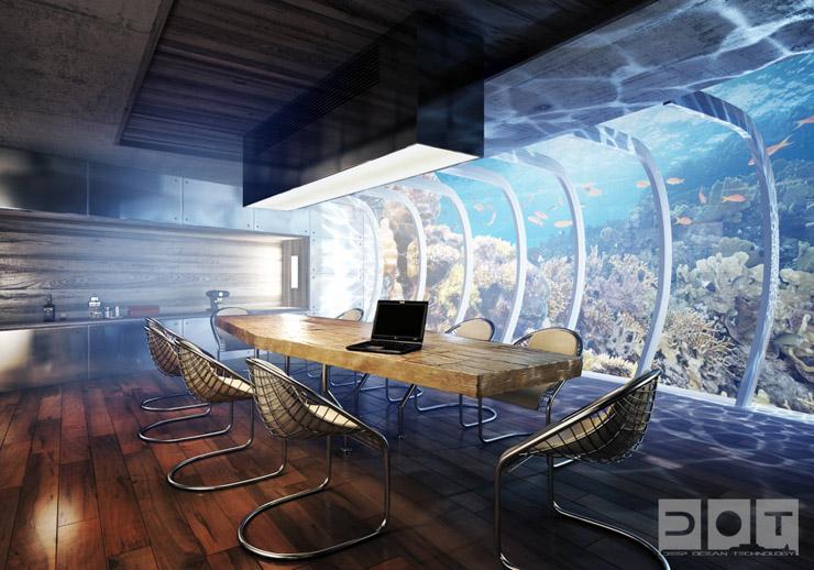 intérieur sous marin