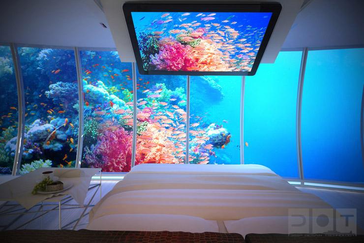 Water Discus Hotel Dubai - Suite avec vue panoramique sur les fonds marins