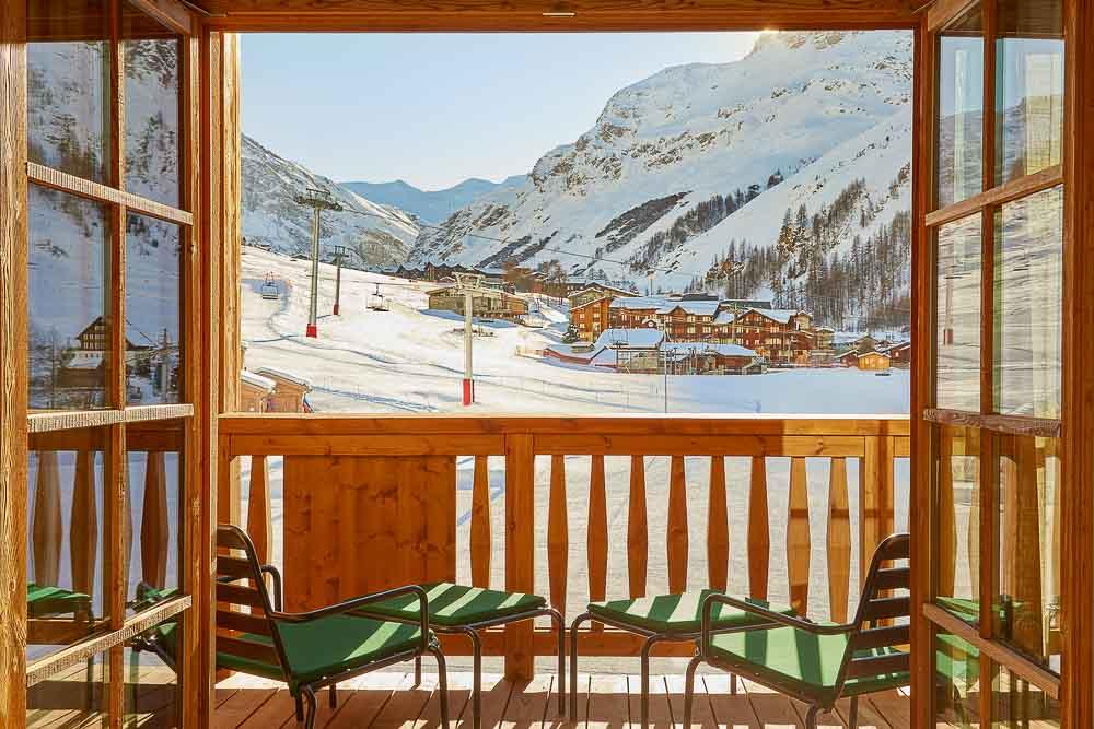 Airelles Val d'Isère - Mademoiselle : vue sur le front de neige © DR