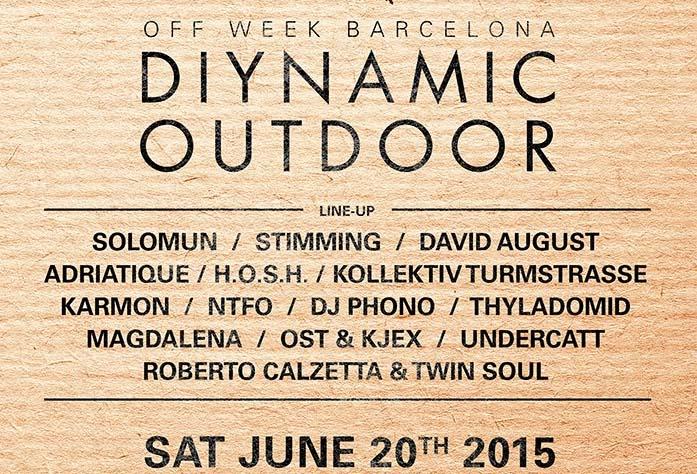 Diynamic Outdoor 2015 - Line-up