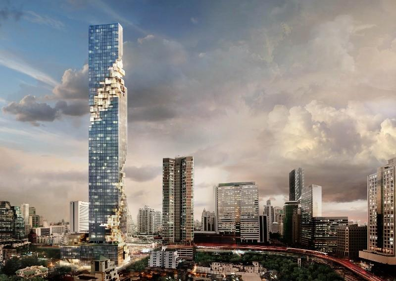 La future tour Mahanakhon dans laquelle sera installée The Bangkok Edition