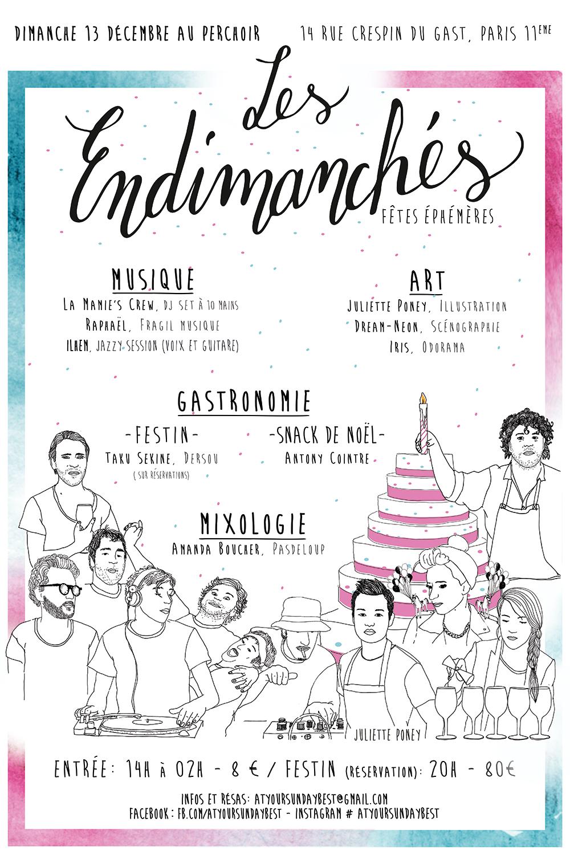 Les Endimanchés - Afficher 1er anniversaire