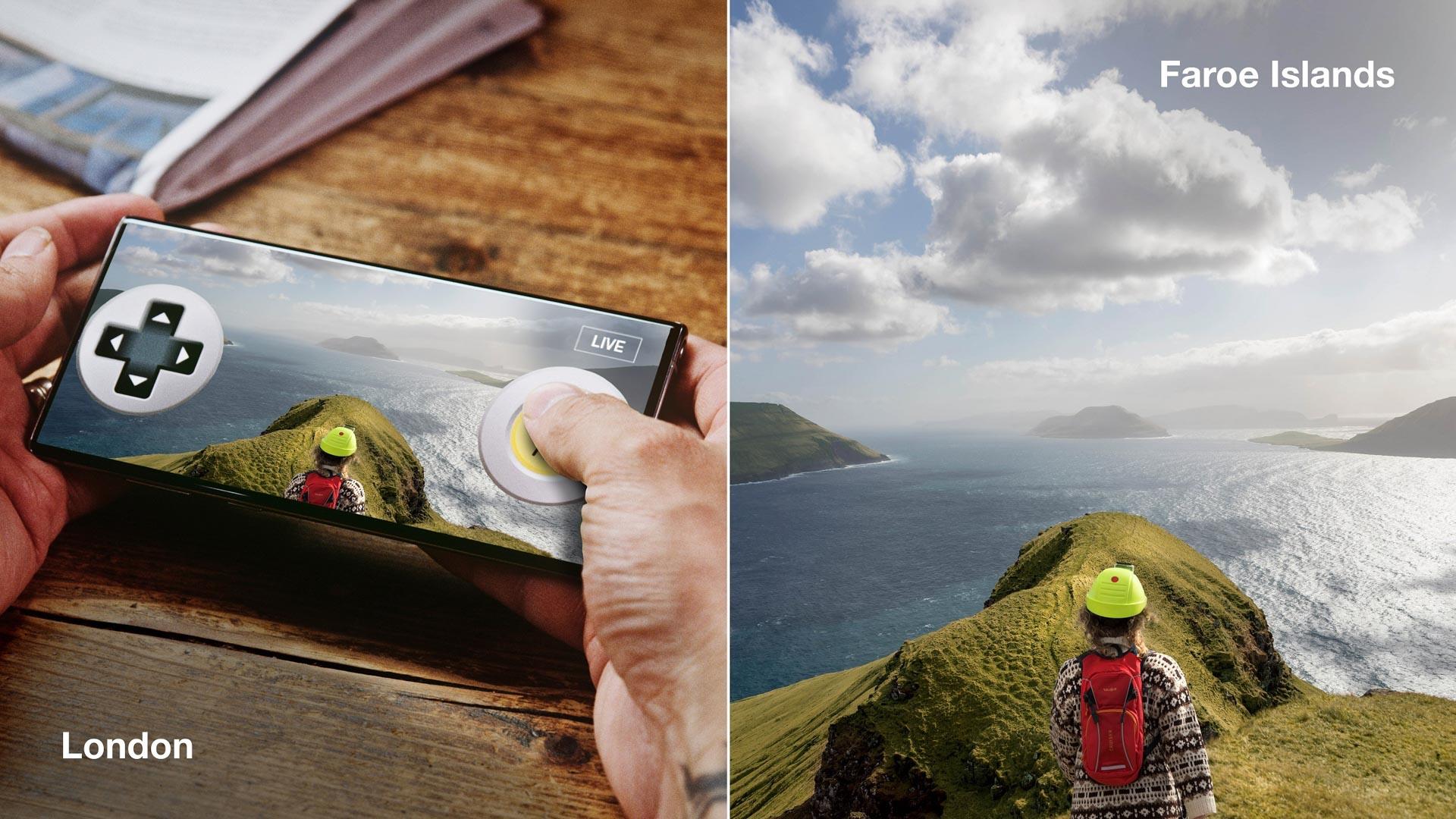 L'application sert à guider l'habitant parmi les paysages grandioses des îles.