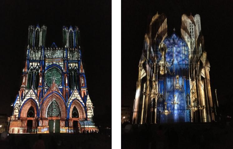Le spectacle « Rêve de Couleurs » à la Cathédrale Notre-Dame de Reims
