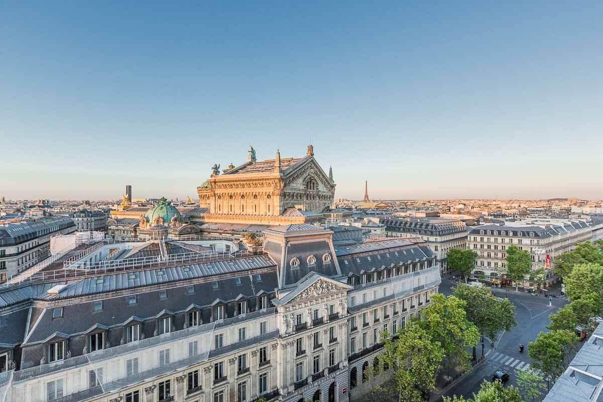 La vue depuis le rooftop des Galeries Lafayette Paris Haussmann