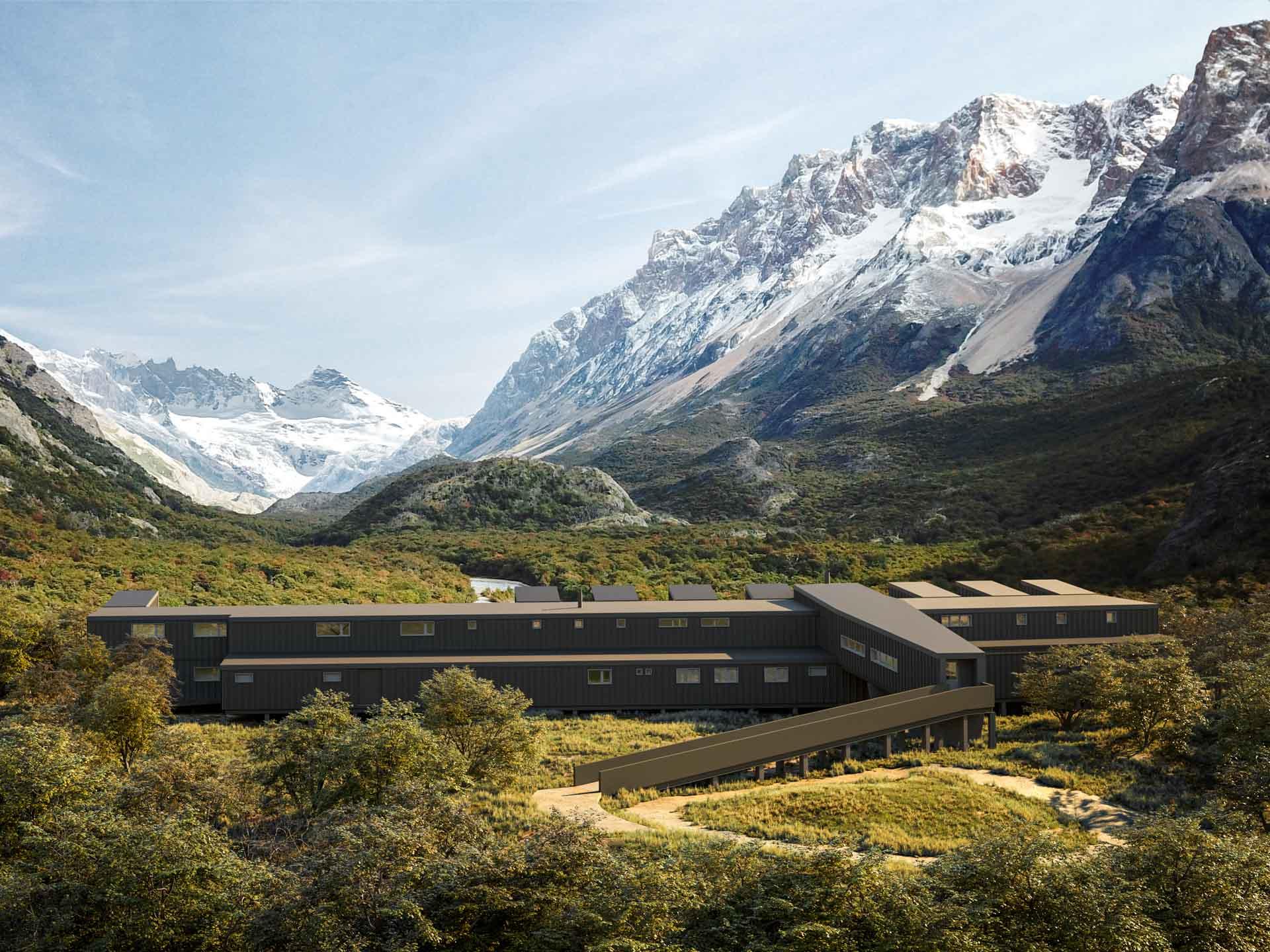 Entre glaciers, rivières et montagnes, le nouveau lodge Explora El Chaltén ouvrira en fin d'année en Patagonie argentine. Au programme, seulement 20 chambres face aux sommets et de nombreuses activités pour découvrir une nature préservée et sauvage.